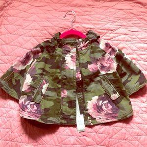 Baby Gap flower/camo light jacket with hood